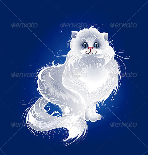GraphicRiver Magic White Persian Cat 7974822
