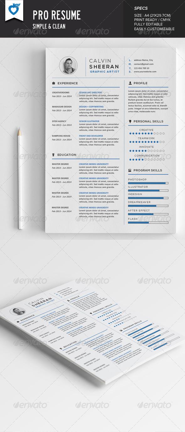 GraphicRiver Pro Resume 7947589