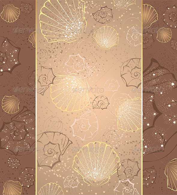 GraphicRiver Design with Seashells 7974853