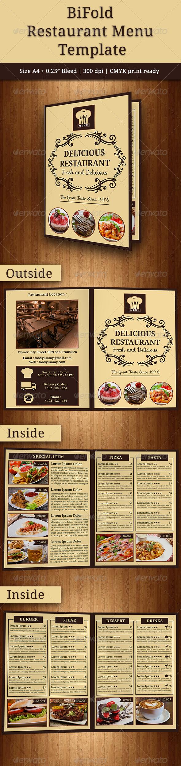 GraphicRiver BiFold Restaurant Menu 7974858
