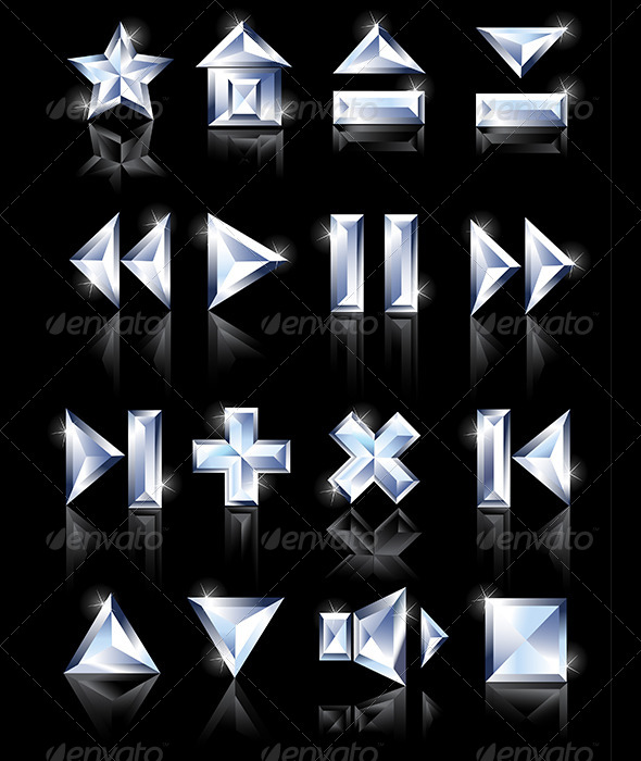 GraphicRiver Diamond Icons 7974864