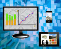 business concepts: diagrams, money, technology - PhotoDune Item for Sale