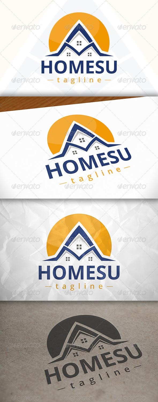 GraphicRiver Home Sun Logo 7975244