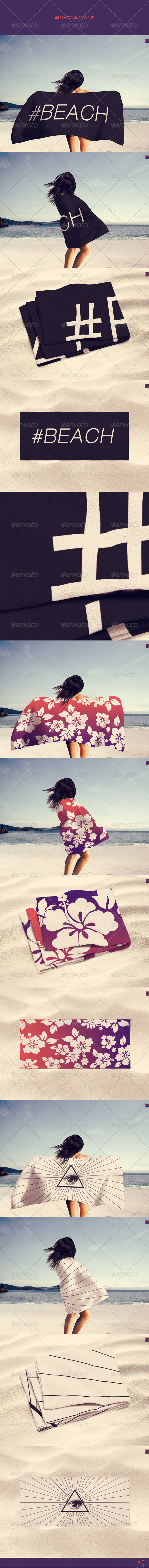GraphicRiver Beach Towel Mock-up 7975405