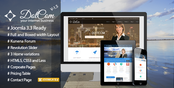 DotCom Responsive Joomla Corporate Template