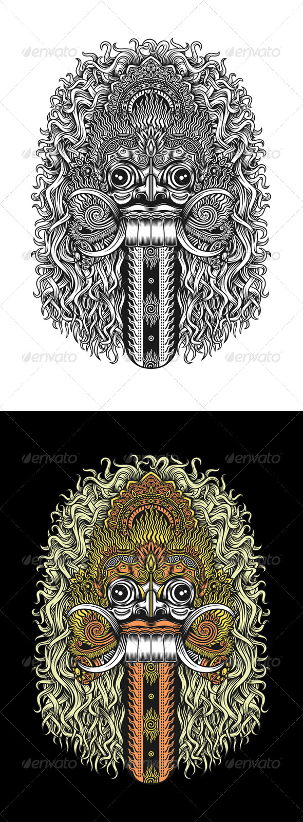 GraphicRiver Balinese Demon Mask 7975550