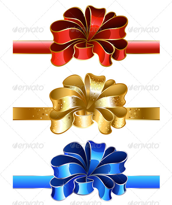 GraphicRiver Festive Bows 7975609
