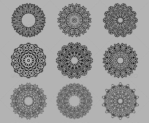 GraphicRiver Circular Ornate Celtic Ornaments 7975618
