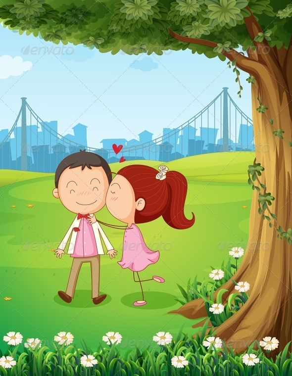 GraphicRiver Couple under Tree 7975619