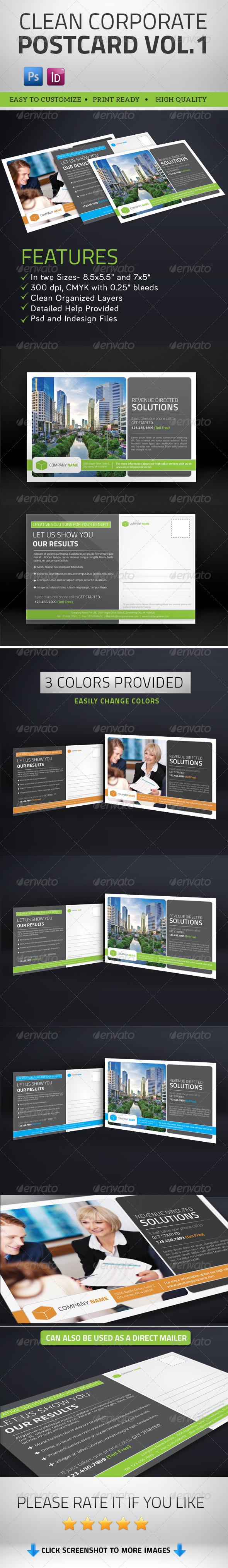 GraphicRiver Multipurpose Clean Corporate Postcard Vol1 7975639