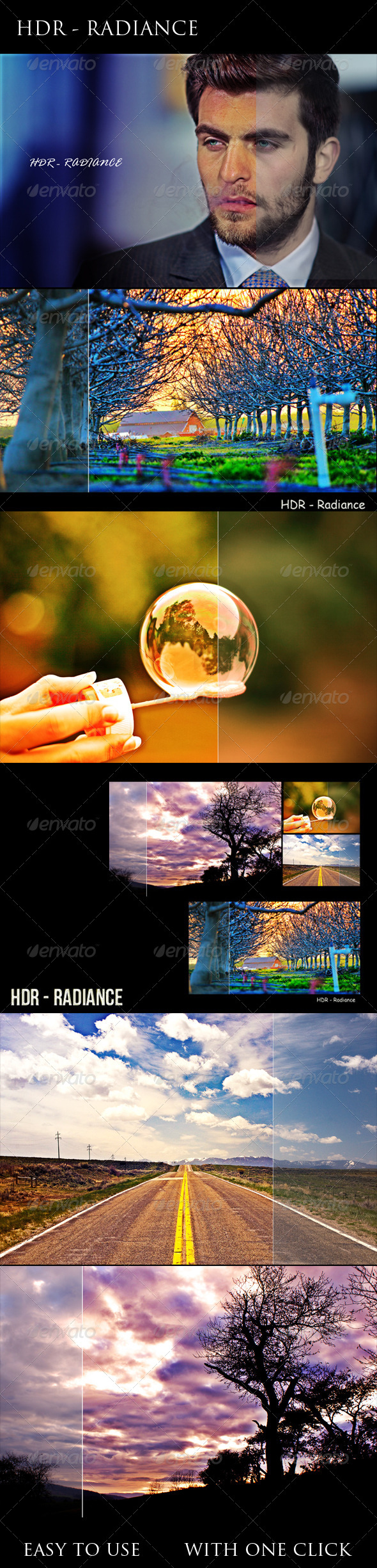 GraphicRiver HDR Radiance PS Action 7976066