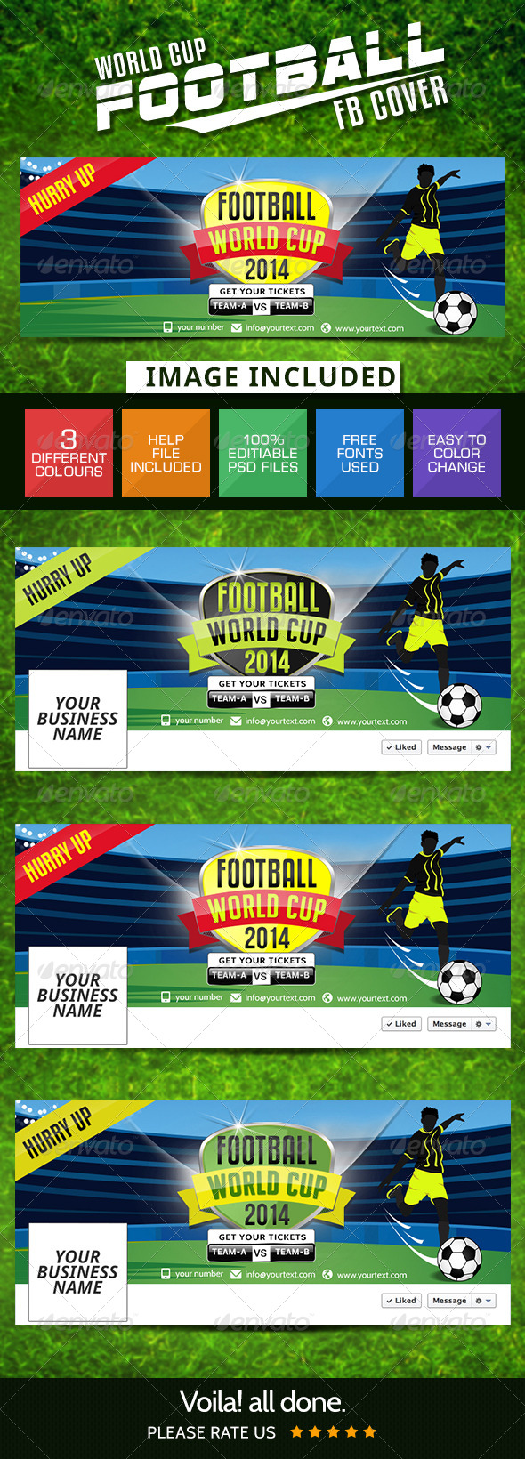 GraphicRiver Football Facebook Cover Page 7976422