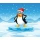 Penguin wearing Santa Hat - GraphicRiver Item for Sale