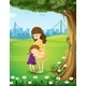 Mother and Daughter under a Tree - GraphicRiver Item for Sale