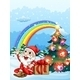 Santa and Gifts with Rainbow - GraphicRiver Item for Sale