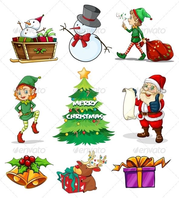 GraphicRiver Christmas Elements 7976800