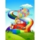 Monkey on Plane with Rainbow - GraphicRiver Item for Sale