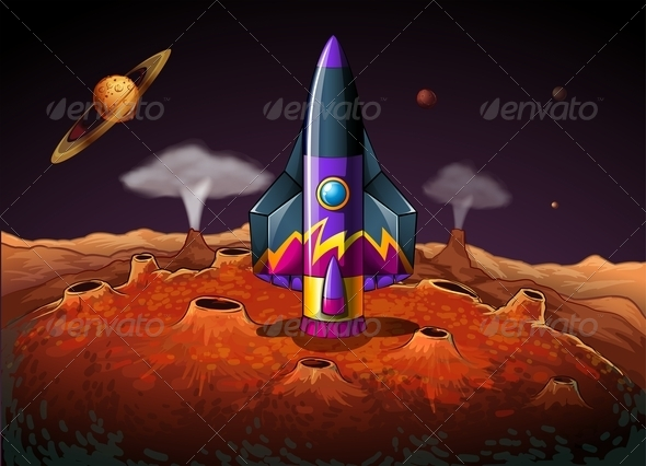 GraphicRiver Planet with Aircraft 7976858