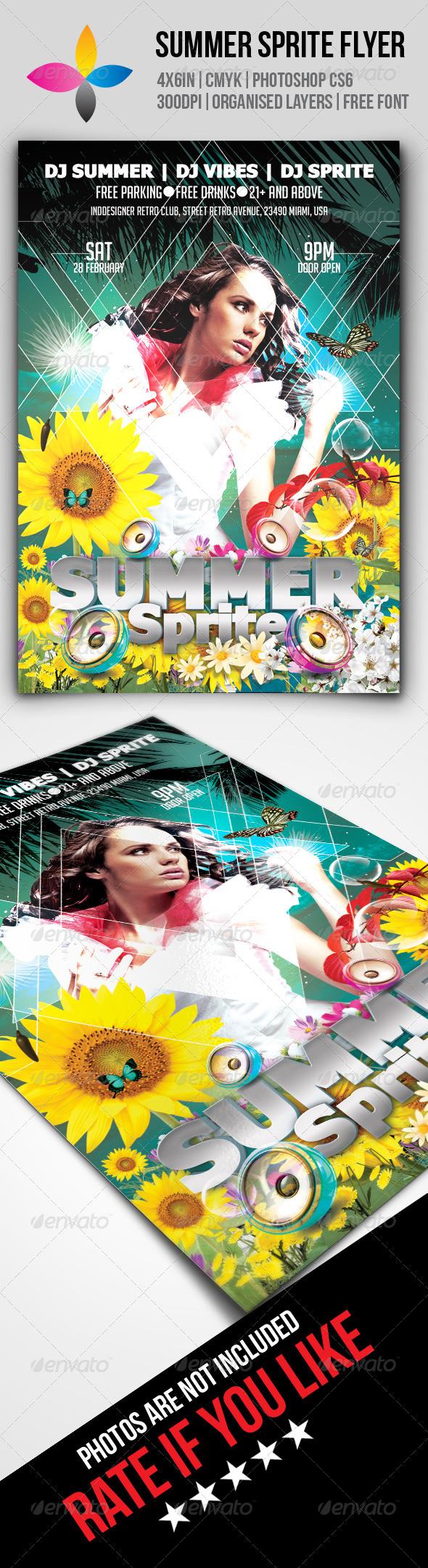 GraphicRiver Summer Sprite Flyer 7977200