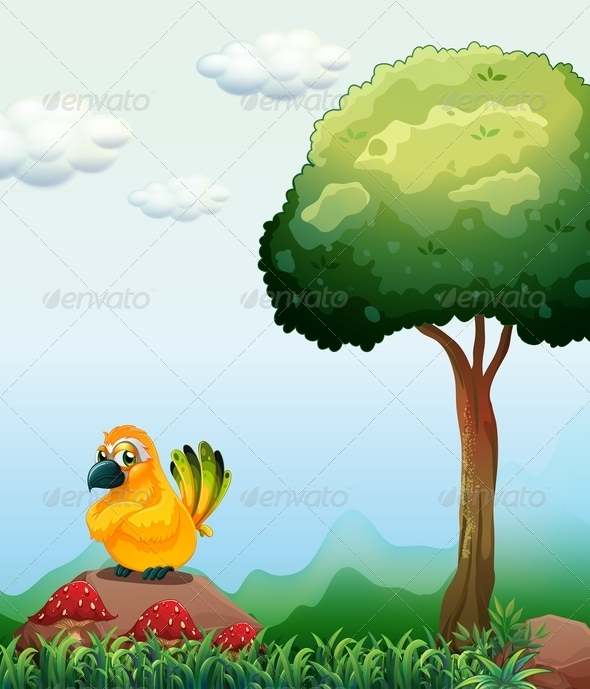 GraphicRiver Bird by a Tree 7977246