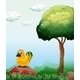 Bird by a Tree - GraphicRiver Item for Sale