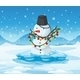 Snowman on Ice - GraphicRiver Item for Sale
