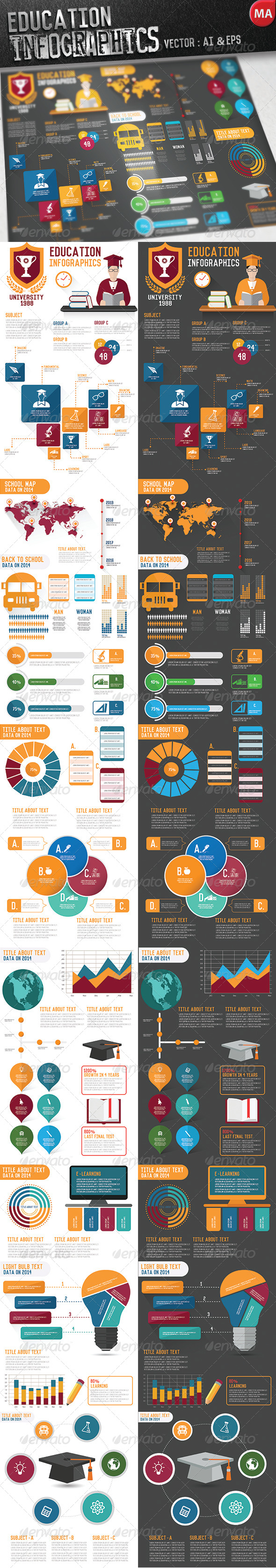GraphicRiver Education Infographics 7965156
