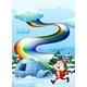 Santa near an Igloo with Rainbow - GraphicRiver Item for Sale