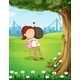 Couple Hugging near Tree - GraphicRiver Item for Sale