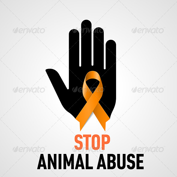 GraphicRiver Stop Animal Abuse sign 7977837