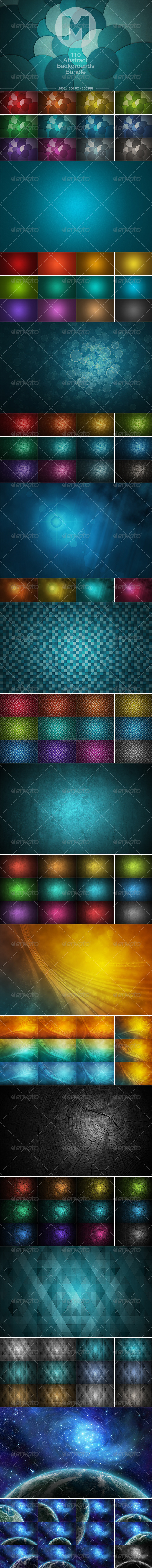 GraphicRiver 110 Abstract Backgrounds Bundle 7959920