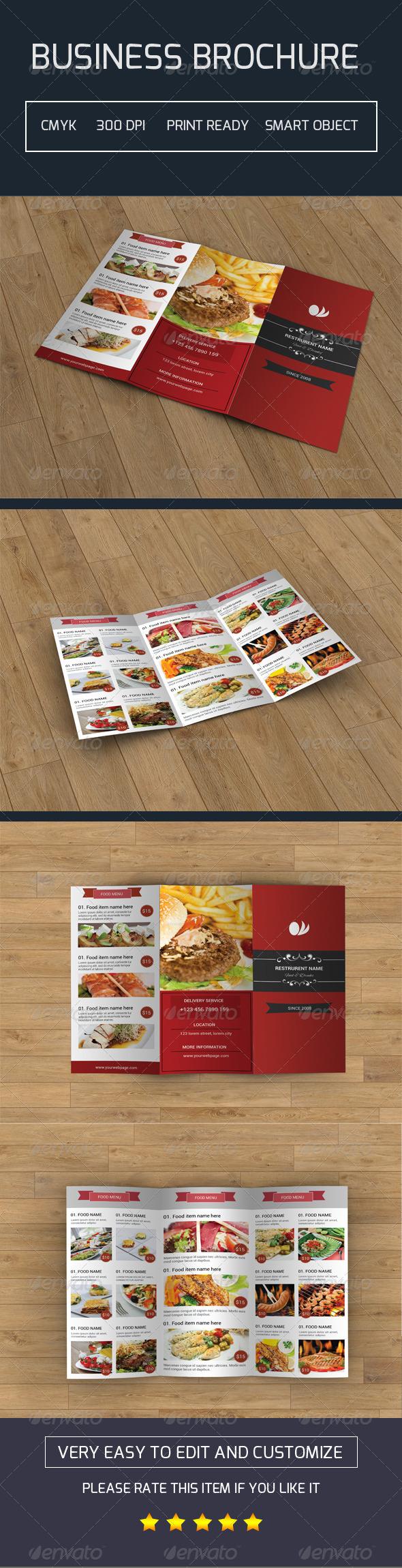 GraphicRiver Restaurant Trifold Brochure-V13 7978344