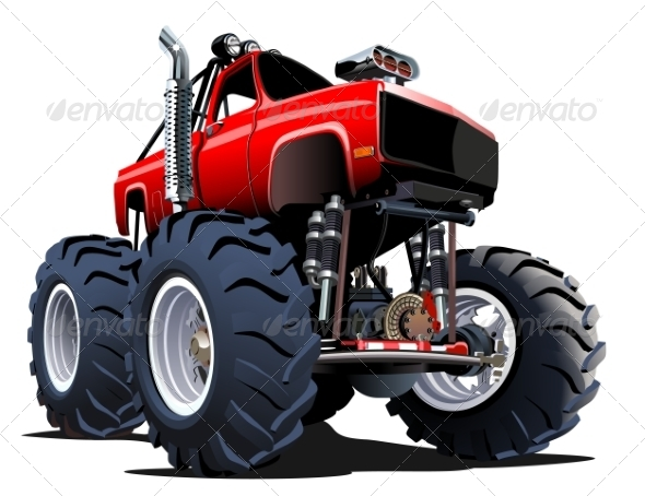 GraphicRiver Cartoon Monster Truck 7978346