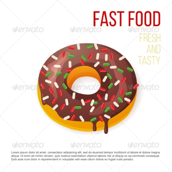 GraphicRiver Donut with Sprinkles 7978491