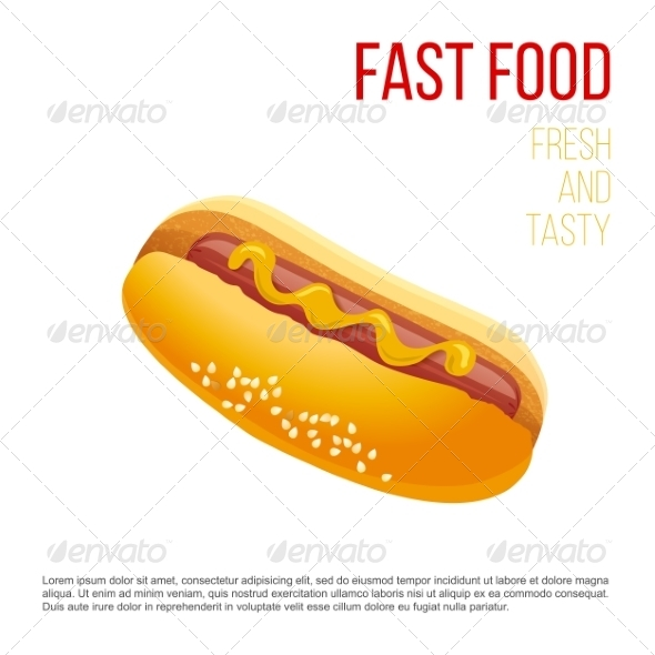 GraphicRiver Hot Dog with Mustard 7978493