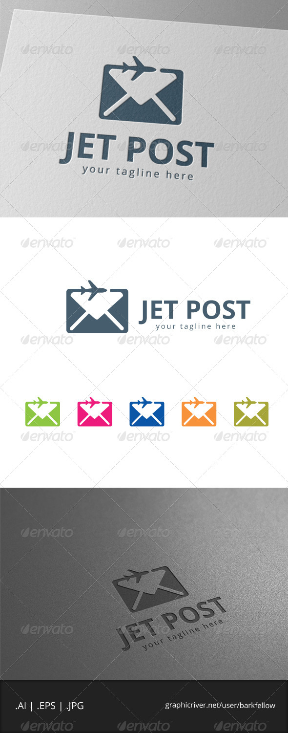 GraphicRiver Jet Plane Post Logo 7978541