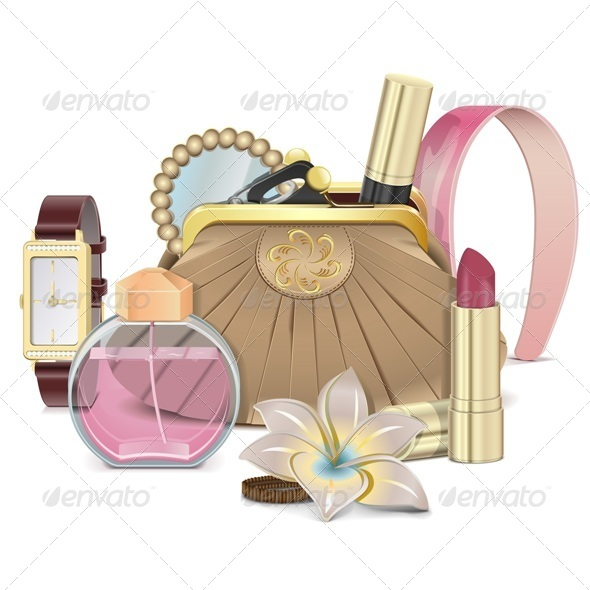Vector Purse with Accessories