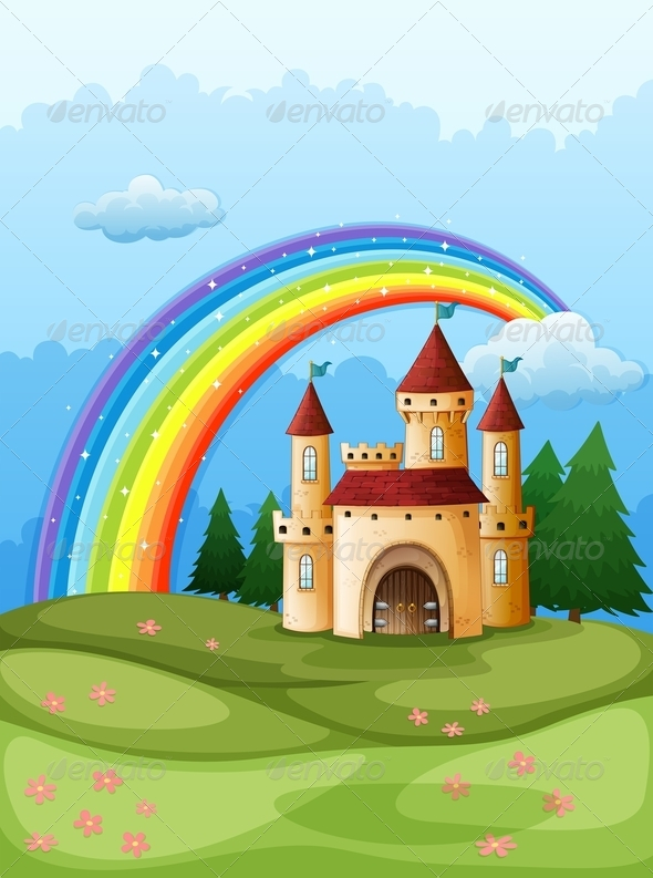 GraphicRiver Castle with Rainbow 7978826