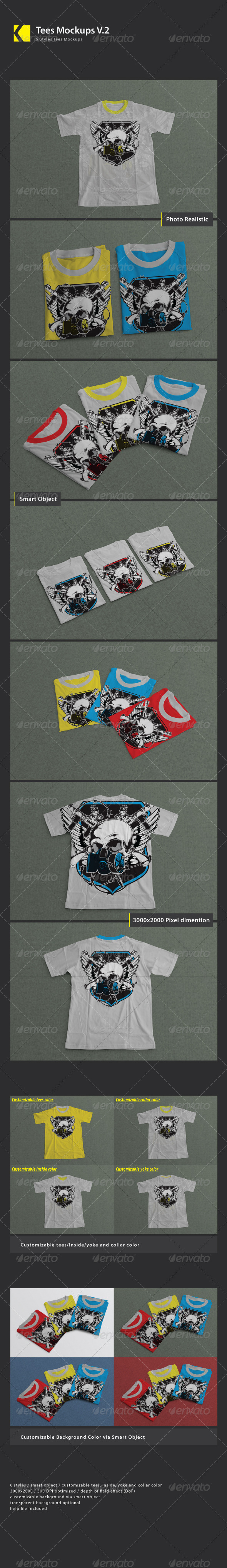 Tees Mock_Ups V.2 - Product Mock-Ups Graphics