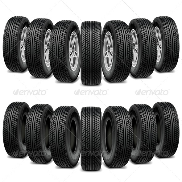 GraphicRiver Vector Wedge of Tires 7978906