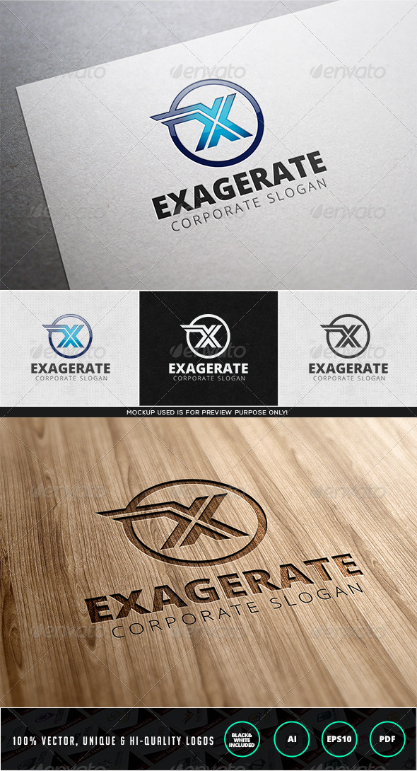 Exagerate Logo Template - Letters Logo Templates
