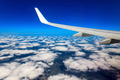 Looking through window aircraft during flight in wing. - PhotoDune Item for Sale