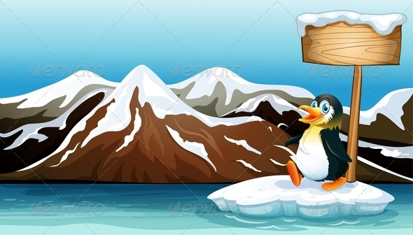GraphicRiver Penguin on Ice 7979170