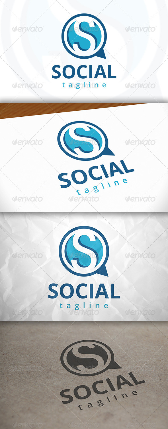 GraphicRiver Social Chat Logo 7979475