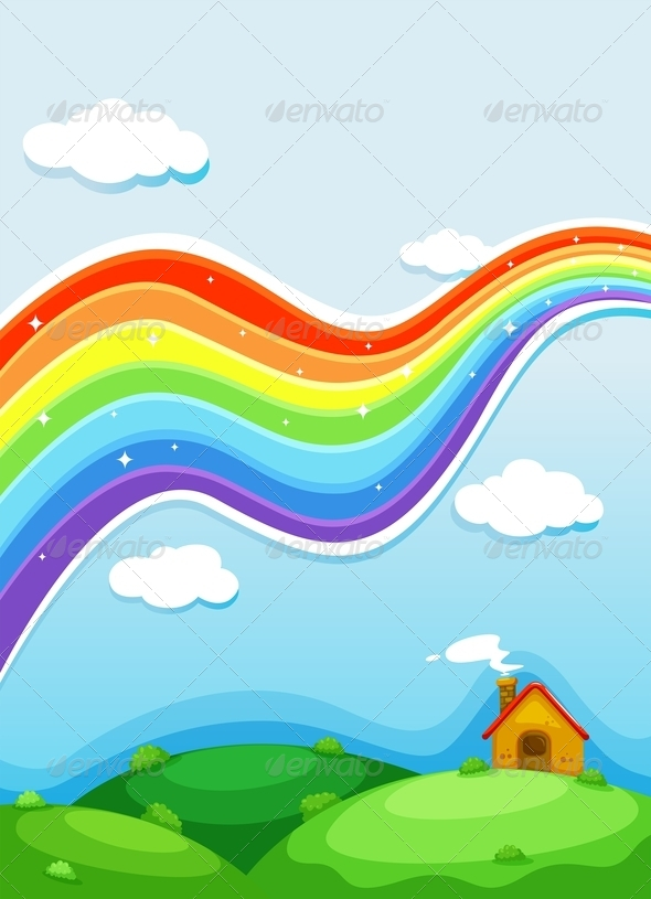 GraphicRiver A Rainbow Above the Hills 7979479