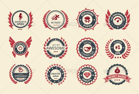 GraphicRiver Achievement Badges 7979495