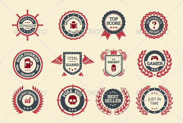 GraphicRiver Achievement Badges 7979528