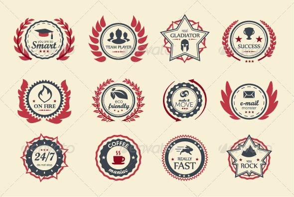 GraphicRiver Achievement Badges 7979541