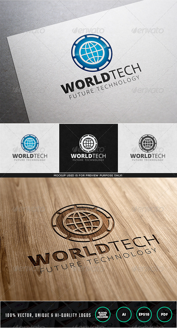 GraphicRiver World Tech Logo Template 7979624