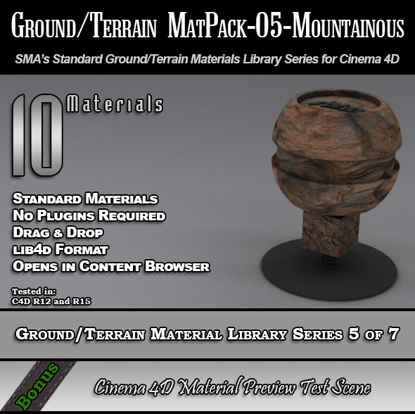 Standard Ground/Terrain MatPack-05-Mountainous - 3DOcean Item for Sale
